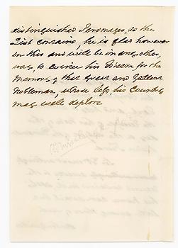 ADMIRAL WILLIAM MARTIN (1801-1895) Autograph Letter