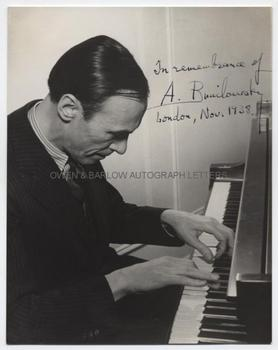 ALEXANDER BRAILOWSKY (1896-1976) Photograph Signed