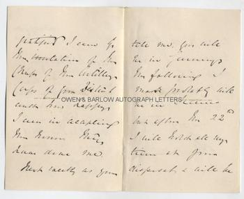 ANDREW CLARKE (1824-1902) Autograph Letter Signed