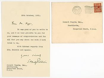 STANLEY BALDWIN (1867-1947) Typed Letter Signed