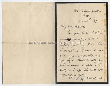 ALFRED NOYES (1880-1958) Autograph Letter Signed