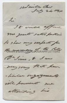 SIR BENJAMIN COLLINS BRODIE (1783-1862) Autograph Letter Signed