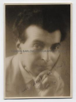 BENNO MOISEIWITSCH (1890-1963) Photograph Signed