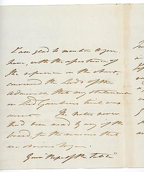 WILLIAM CARNEGIE (1758-1831) Autograph Letter Signed