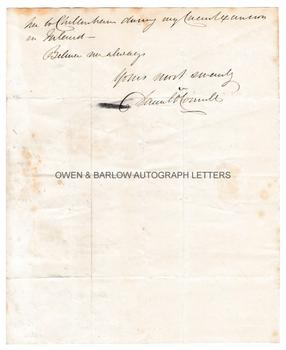 DANIEL O'CONNELL (1775-1847) Autograph Letter Signed