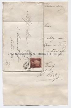 SIR CHARLES HALLE (1819-1895) Autograph Letter Signed
