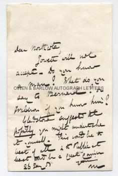 CHARLES TREVELYAN (1807-1886) Autograph Letter Signed