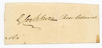 GEORGE COCKBURN (1772-1853) Autograph Signature