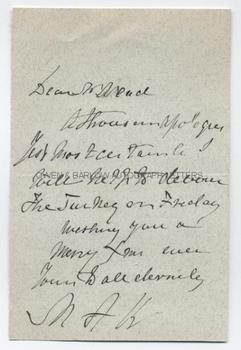 MARY ANNE KEELEY (1805-1899) Autograph Letter Signed
