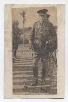 DOUGLAS HAIG (1861-1928) Newsprint Portrait Signed