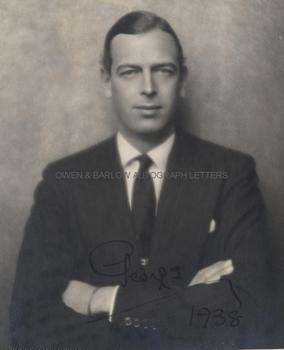 GEORGE, DUKE OF KENT (1902-1942) Photograph Signed