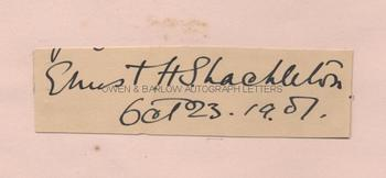 ERNEST SHACKLETON (1874-1922) Autograph Signature