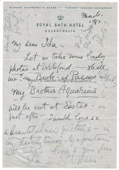STEPHEN TENNANT (1906-1987) Autograph Letter Signed and Small Collection of Other Related Material
