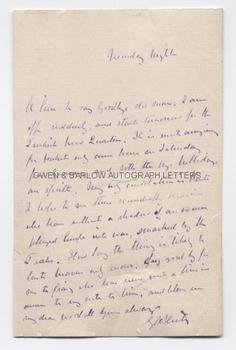 G A HENTY (1832-1902) Autograph Letter Signed