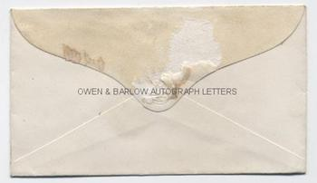 GEORGE PEABODY (1795-1869) Autograph Envelope Signed