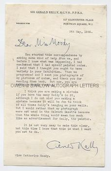 GERALD KELLY (1879-1972) Typed Letters Signed