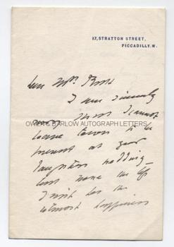 SIR HENRY IRVING (1838-1905) Autograph Letter Signed