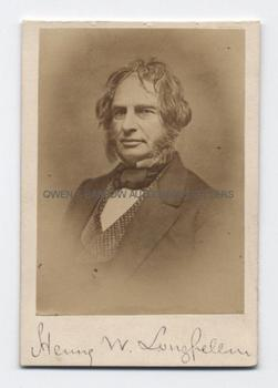 HENRY WADSWORTH LONGFELLOW (1807-1882) Signed Photograph