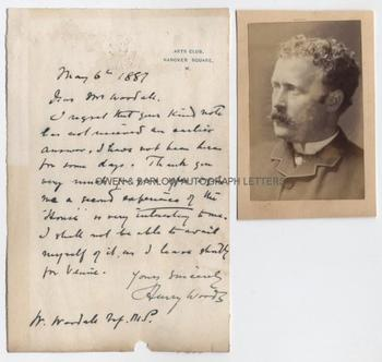 HENRY WOODS (1846-1921) Autograph Letter Signed