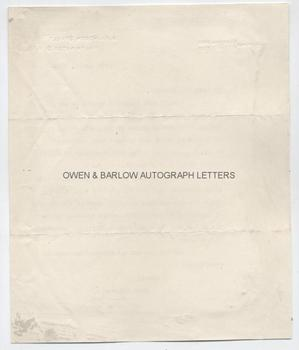 DAVID LLOYD GEORGE (1863-1945) Typed Letter Signed