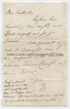 LORD DALHOUSIE (1812-1860) Autograph Letter Signed
