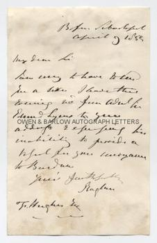 LORD RAGLAN (1788-1855) Autograph Letter Signed