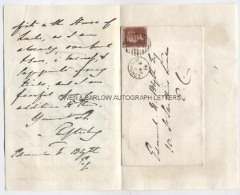 LORD SHAFTESBURY (1801-1885) Autograph Letter Signed