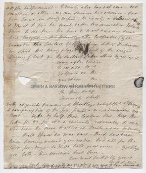 MARY RUSSELL MITFORD (1787-1855) Autograph Letter Signed