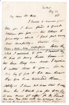 MATTHEW ARNOLD (1822-1888) Autograph Letter Signed