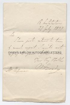 MICHAEL FARADAY (1791-1867) Autograph Letter Signed