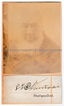 PAUL KRUGER (1825-1904) Autograph Signature and Photograph