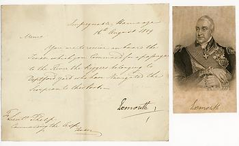 EDWARD PELLEW (1757-1833) Document Signed