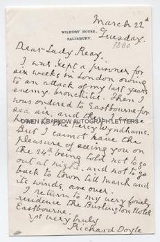 RICHARD DOYLE (1824-1883) Autograph Letter Signed