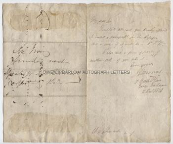 SIR JOHN BOWRING (1792-1872) Autograph Letter Signed
