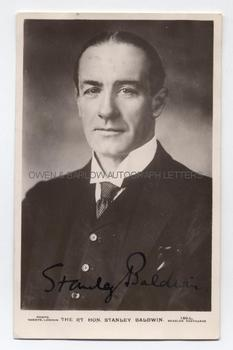 STANLEY BALDWIN (1867-1947) Photograph Signed