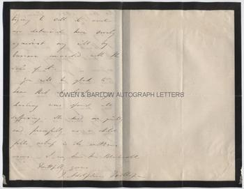 THOMAS ADOLPHUS TROLLOPE (1810-1892) Autograph Letter Signed