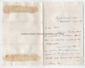 THOMAS BRASSEY (1805-1870) Autograph Letter Signed