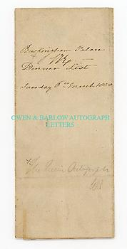 VICTORIA (1819-1901) & ARTHUR WELLESLEY, DUKE OF WELLINGTON (1769-1852) Document Signed