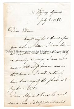 WILLIAM CHARLES ROSS (1794-1860) Autograph Letter Signed