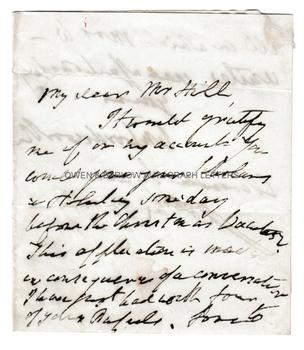 WILLIAM WORDSWORTH (1770-1850) Autograph Letter Signed