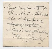 ADA CROSSLEY (1874-1929) Autograph Letter Signed