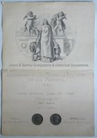 THE GREAT EXHIBITION (1851) Exhibitors Certificate