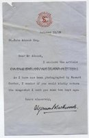 ALGERNON BLACKWOOD (1869-1951) Typed Letter Signed