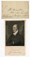 GEORGE CANNING (1770-1827) Autograph Letter Cover Signed