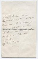 COLIN CAMPBELL (1792-1863) Autograph Letter