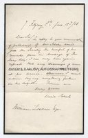 DAVID ROBERTS (1796-1864) Autograph Letter Signed
