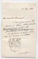 FREDERICK HAMILTON-TEMPLE-BLACKWOOD, MARQUESS OF DUFFERIN AND AVA (1826-1902) Autograph Letter Signed