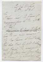 DUKE OF WELLINGTON (1769-1852) Autograph Letter Signed