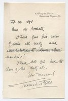 SIR FREDERICK TREVES (1853-1923) Autograph Letter Signed