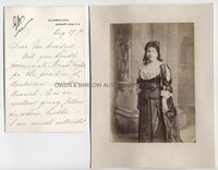 GENEVIEVE WARD (1837-1922) Autograph Letter Signed